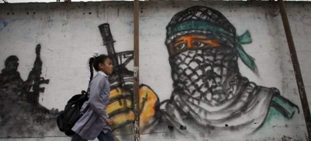 Estudiantes palestinos en Jabaliya