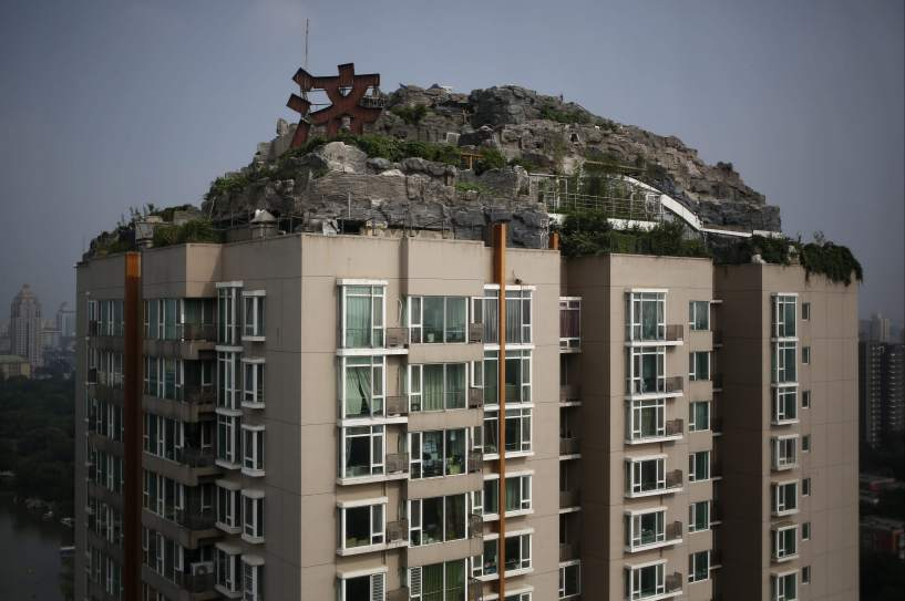 Villa privada en lo alto de un rascacielos