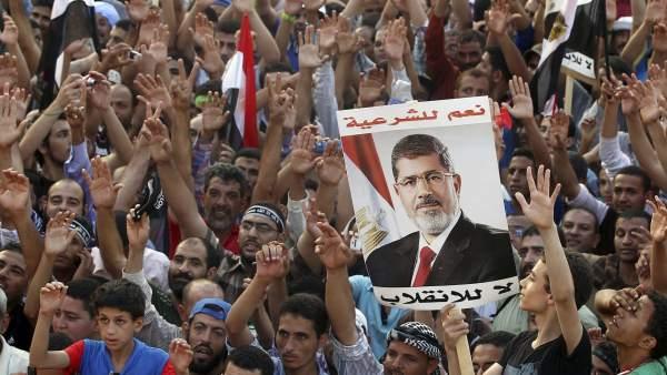Partidarios de Mohamed Morsi