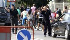 No a los camiones de arena en Gibraltar