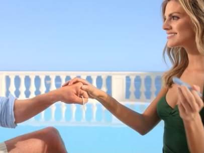Amaia Salamanca en un anuncio de Tampax