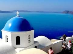 Santorini, tur�stica isla griega.