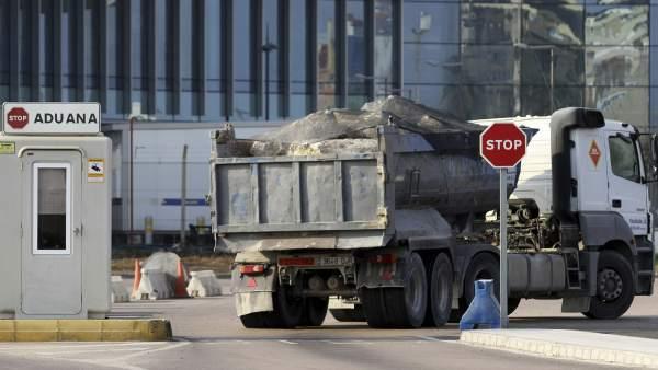 Camiones en Gibraltar