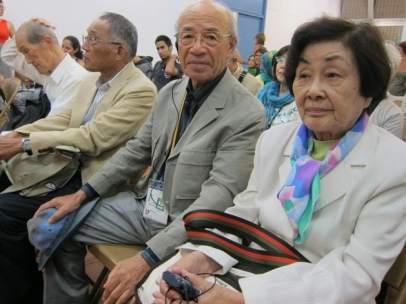 Supervivientes de las bombas nucleares de Hiroshima y Nagasaki (Japón).