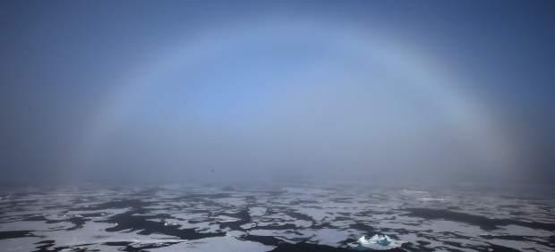 Arco iris en el Ártico
