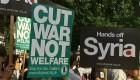 Protestas contra la intervención en Siria
