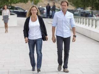 Arantxa Sánchez Vicario y su marido