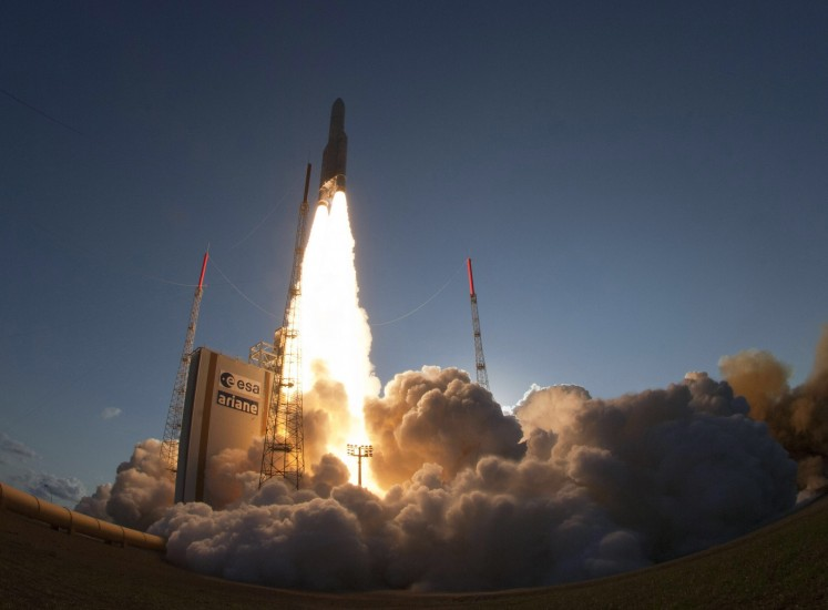 Lanzamiento del cochete Ariane 5