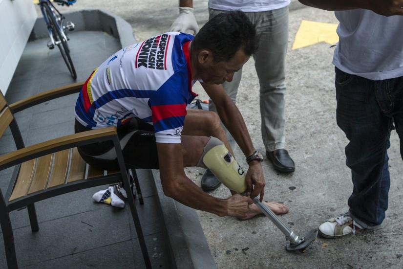 1.000 kilómetros en nueve días con una pierna biónica
