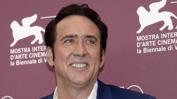 Nicolas Cage. en la presentación de 'Joe'.
