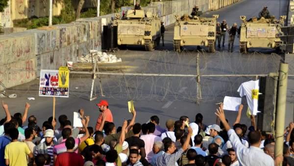 Protesta de simpatizantes de Morsi