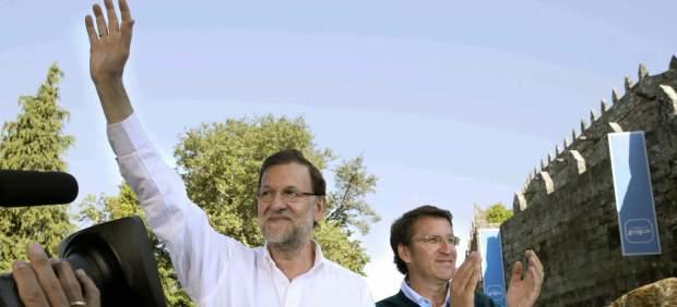 Mariano Rajoy y Alberto Núñez Feijoo