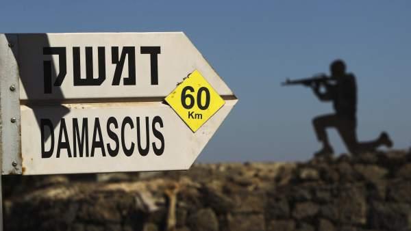 Cartel de Damasco en Israel