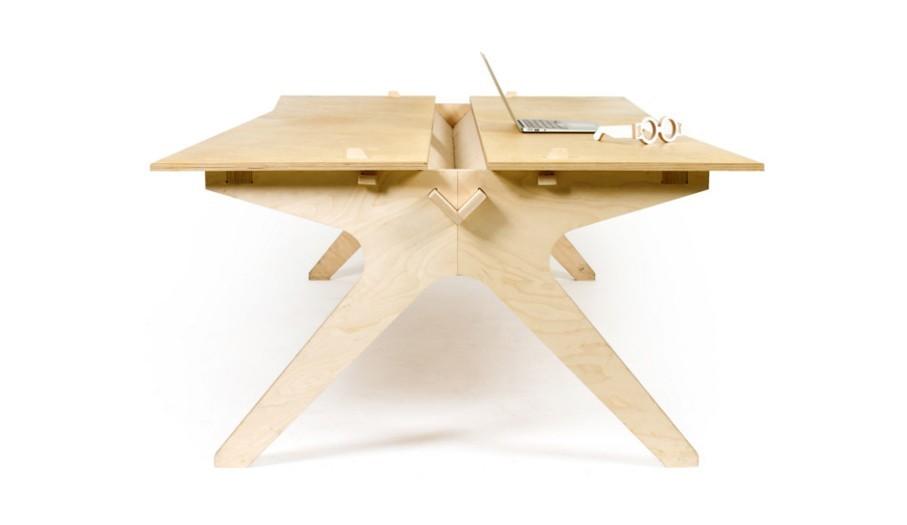 , pensada como superficie de trabajo para cuatro personas (OpenDesk