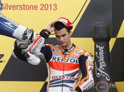Dani Pedrosa, pensativo en Silverstone