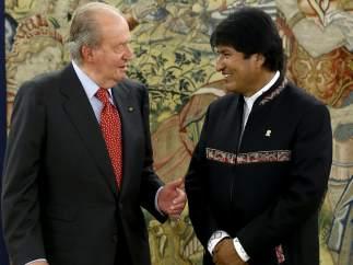 El rey recibe a Evo Morales