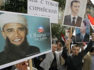 Protesta contra EE UU por la posible intervención militar en Siria
