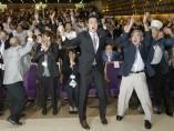 Euforia de la delegación japonesa