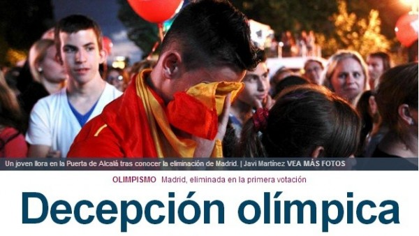 """""""Decepción olímpica"""""""