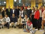 Llegada a Barajas de la expedición Madrid 2020