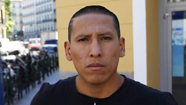 Omar Martínez, repartidor