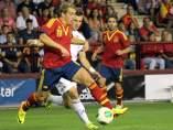 Deulofeu, durante el España-Albania de la selección sub-21