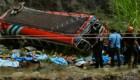 Tr�gico accidente de autob�s en Guatemala
