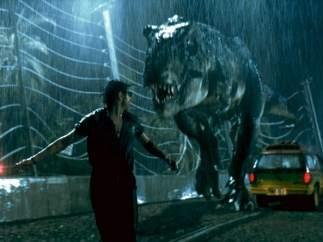 Fotograma de la primera entrega de 'Parque Jurásico'.
