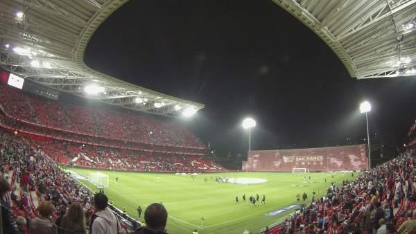 Primer partido oficial en el nuevo San Mamés de Bilbao