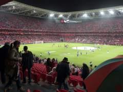 Primer partido oficial en el nuevo San Mam�s de Bilbao