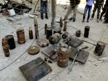 Bombas incautadas en Siria