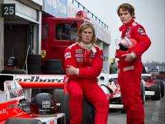 Daniel Br�hl y Chris Hemsworth en 'Rush'