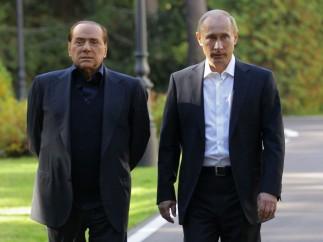 Putin y Berlusconi