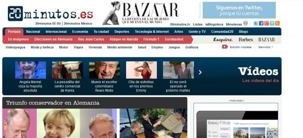 '20minutos Sites' es el diario 'on line' más leído exclusivamente a través de móviles y tabletas