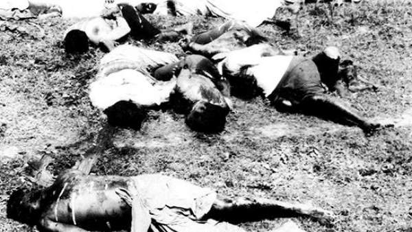 Cadáveres haitianos tras la masacre de 1937