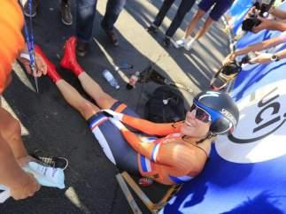 La ciclista holandesa Ellen van Dijk