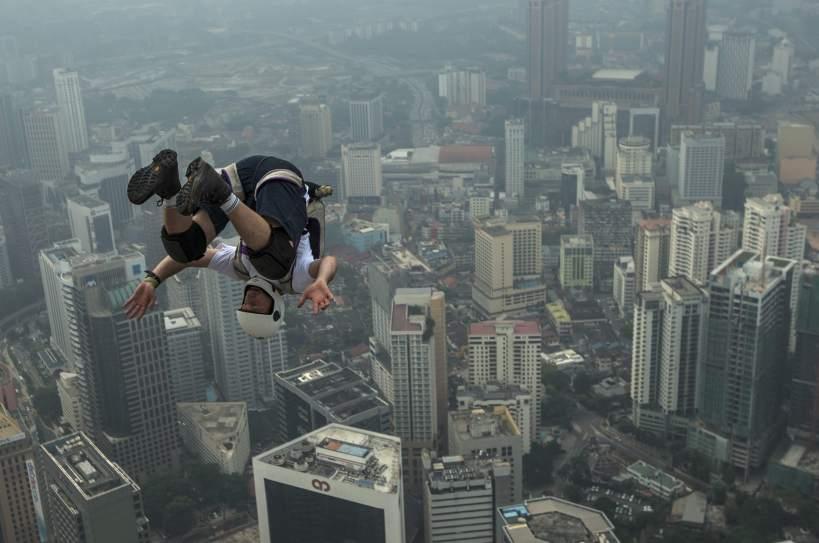 Salto desde un rascacielos