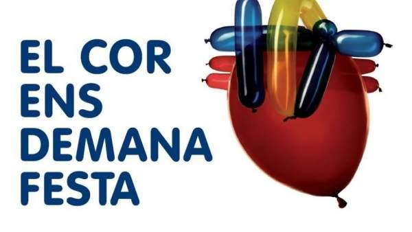 Cartell de la Festa del Cor que es celebra al Parc d'Atraccions del Tibidabo.