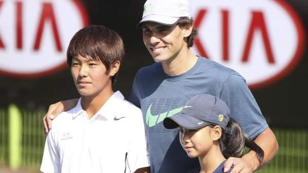 Rafa Nadal y Lee Duck-hee