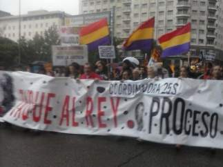 Protesta en pleno centro de Madrid