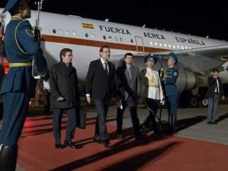Rajoy llega a Astaná en apoyo a las empresas españolas en proyectos kazajos