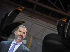 El príncipe Felipe, en la entrega del A400M en Sevilla.