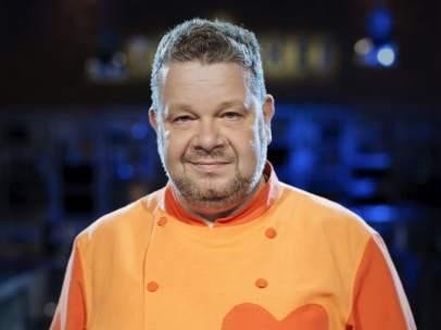 Fotografía facilitada por Antena 3 de Alberto Chicote que regresa a la televisión al frente del jurado de 'Top Chef'.