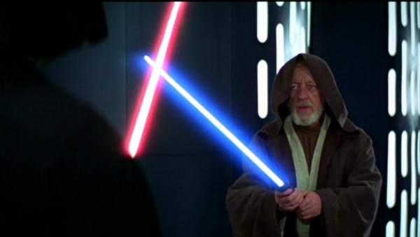 Obi Wan Kenobi se enfrenta a Darth Vader en 'Star Wars'