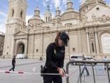 Explota un artefacto en la Basílica del Pilar