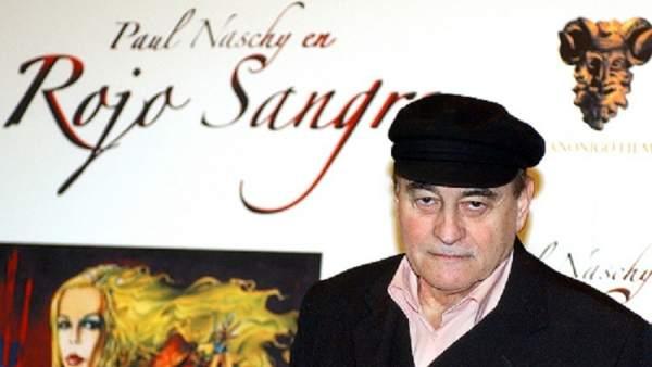 Paul Naschy, durante la presentación de una película