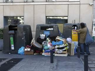 Basuras en Madrid