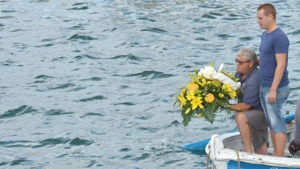 Homenaje en Lampedusa