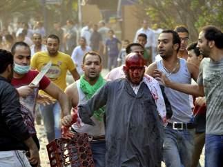 Protesta sangrienta en El Cairo