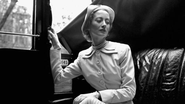 Model Wearing a Hardy Amies Suit, London, 1949